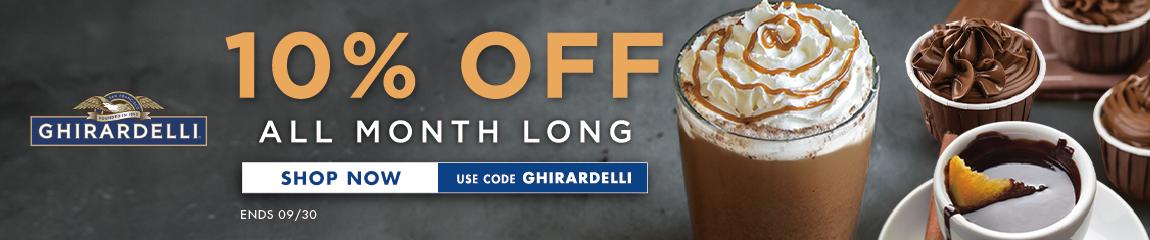 Ghirardelli 10%