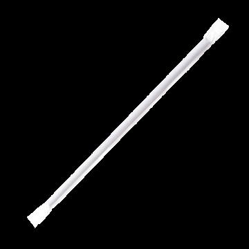 Karat 7.75'' Jumbo Straws (5mm) Paper Wrapped - Black - 12,000 ct