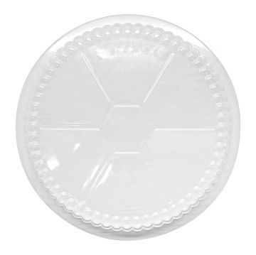 "Karat 7"" OPS Dome Lids for Foil Containers"