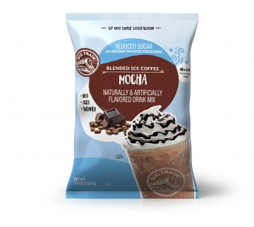 Big Train Mocha Blended Ice Coffee Mix Reduced Sugar (3.5 lbs)