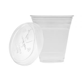 Karat 12oz PET Cold Cups and PET Strawless Sipper Lids (98mm)