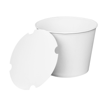 Karat 130oz Food Buckets with Paper Lids (215mm) - 125 ct
