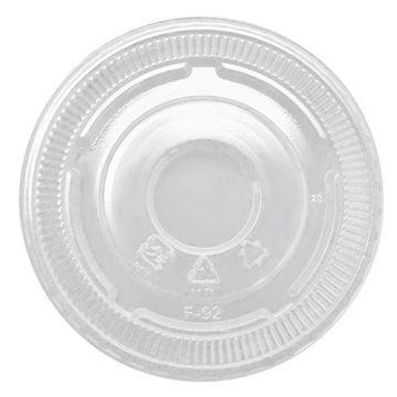 Karat 92mm PET Plastic Flat Lids - No Hole - 1,000 ct