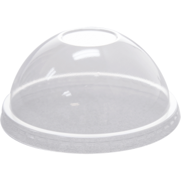Karat 92mm PET Plastic Dome Lids - No Hole - 1,000 ct