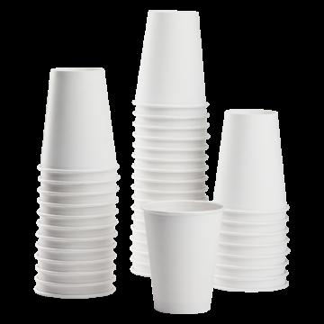 Karat 8oz Paper Hot Cups - White (80mm) - 1,000 ct