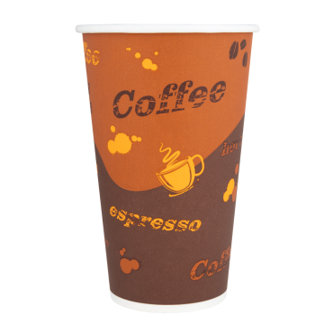 Karat 16oz Paper Hot Cups - Coffee (90mm) - 1,000 ct