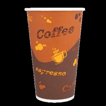 Karat 16oz Paper Hot Cups - Coffee (90mm) - 1,000 ct