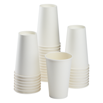 Karat 16oz Paper Hot Cups - White (90mm) - 1,000 ct