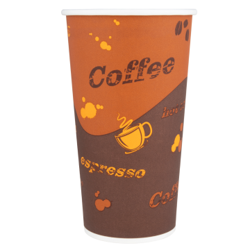 Karat 20oz Paper Hot Cups - Coffee (90mm) - 600 ct