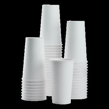 Karat 20oz Paper Hot Cups - White (90mm) - 600 ct