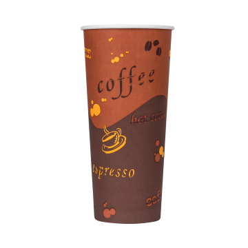 Karat 24oz Paper Hot Cups - Coffee (90mm) - 500 ct
