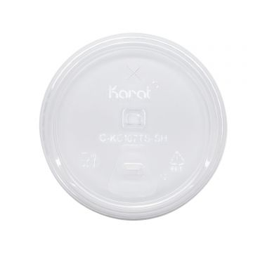 Karat Strawless Sipper lid for 32oz PET Plastic cup - 1,000 ct