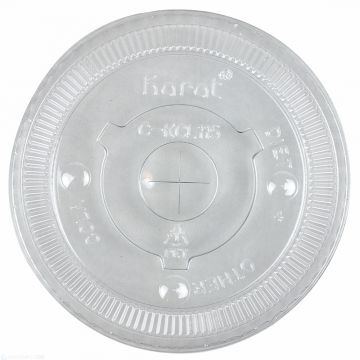 Karat 115mm PET Plastic Flat Lids - 1,000 ct