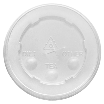 Karat 84mm PS Plastic Flat Lids - 1,000 ct