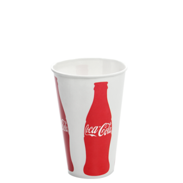 Karat 12oz Paper Cold Cups - Coca Cola (84mm) - 1,000 ct, C-KCP12 (Coke)