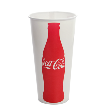 Karat 22oz Paper Cold Cups - Coca Cola (90mm) - 1,000 ct