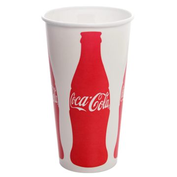 Karat 32oz Paper Cold Cups - Coca Cola (104.5mm) - 600 ct
