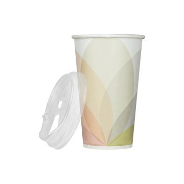 Karat 16oz Paper Cold Cups (Kold) and PET Strawless Sipper Lids