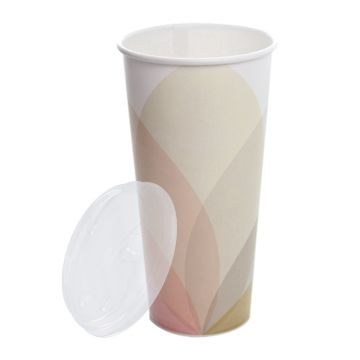 Karat 32oz Paper Cold Cups (Kold) and PET Strawless Sipper Lids
