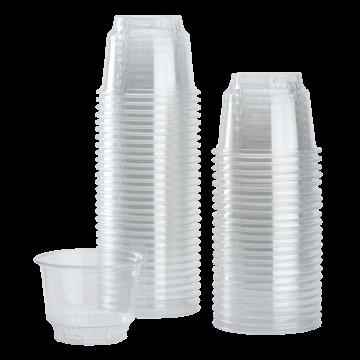 Karat 8oz PET Plastic Dessert Cups (92mm) - 1,000 ct