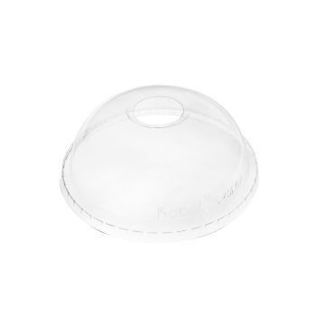 Karat 107mm PET Plastic Dome Lids - 500 ct