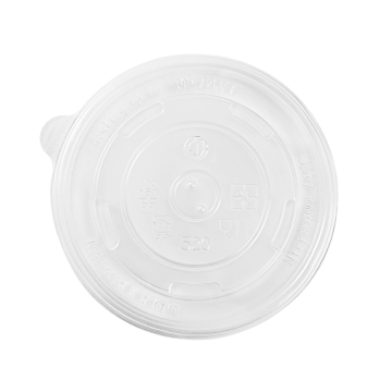 Karat 16oz PP Plastic Food Container Flat Lids (112mm) - 1,000 ct