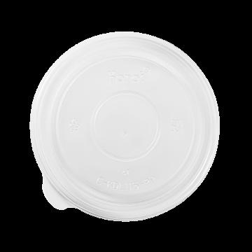 Karat 32 oz PP Plastic Food Container Flat Lids (115mm) - 500 ct