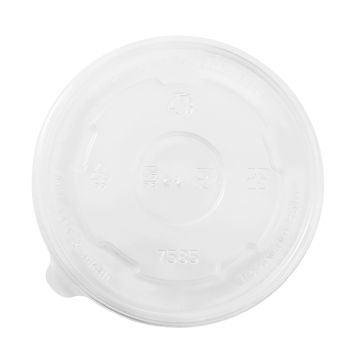 Karat 20oz PP Plastic Food Container Flat Lids (127mm) - 600 ct