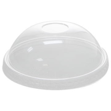 Karat 20oz PET Plastic Food Container Dome Lids (127mm) - 600 ct