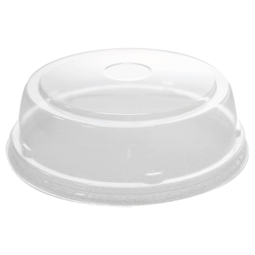 Karat 24-32oz PET Plastic Food Container Straight Dome Lids (142mm) - 600 ct