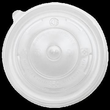Karat 24-32oz PP Plastic Food Container Flat Lids (142mm) - 600 ct