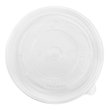 Karat 24-32oz PP Plastic Food Container Flat Lids (142mm) - 600 ct