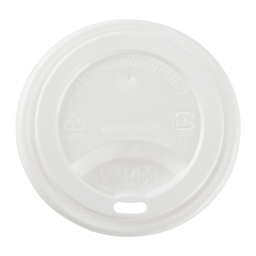 Karat PP Sipper Dome Lid for 8 oz Paper Hot Cup (White) - 1,000 ct