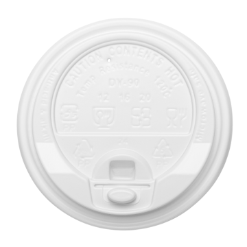 Karat 10-24oz Enclosure Lids - White (90mm) - 1,000 ct