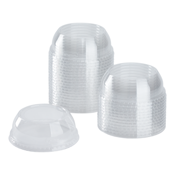 Karat 98mm PET Plastic Dome Lids - Wide Opening - 1,000 ct