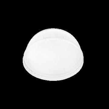 Karat 98mm PET Dome Lids - No Hole - 1,000 ct