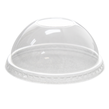 Karat 78mm PET Plastic Dome Lids - No Hole - 1,000 ct