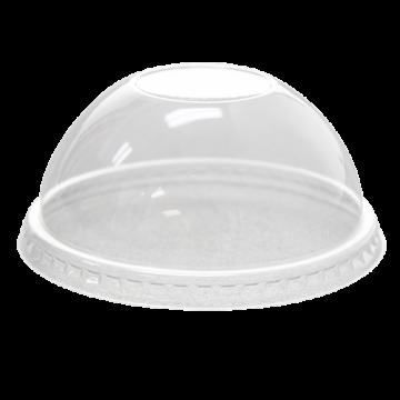 Karat 78mm PET Plastic Dome Lids - No Hole - 1,000 ct