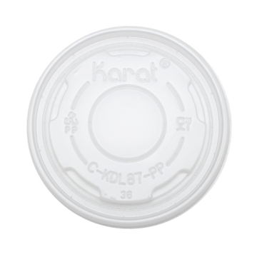 Karat 5oz PP Plastic Container Flat Lids (87mm) - 1,000 ct