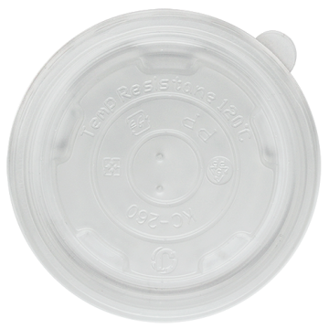 Karat 8oz PP Plastic Food Container Flat Lids (95mm) - 1,000 ct