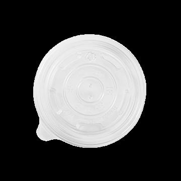 Karat 8oz PP Plastic Food Container Flat Lids (95mm) - 1,000 ct