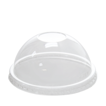 Karat 6/10oz PET Plastic Food Container (96mm) and Gourmet Food Container Dome Lids - 1000 ct