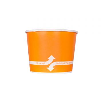 Karat 16oz Food Containers - Orange (112mm) - 1000 ct, C-KDP16 (ORANGE)