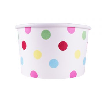 Karat 20oz Food Containers - Dots (127mm) - 600 ct, C-KDP20 (DOTS)