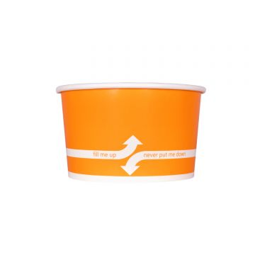 Karat 20oz Food Containers - Orange (127mm) - 600 ct, C-KDP20 (ORANGE)