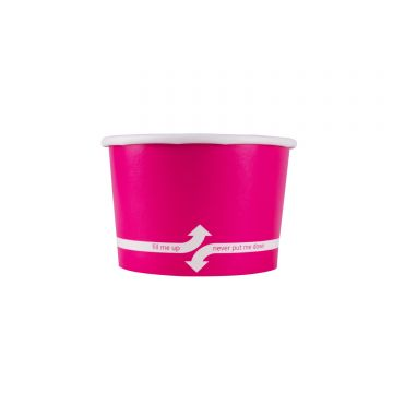 Karat 4oz Food Containers - Pink (76mm) - 1,000 ct, C-KDP4 (PINK)
