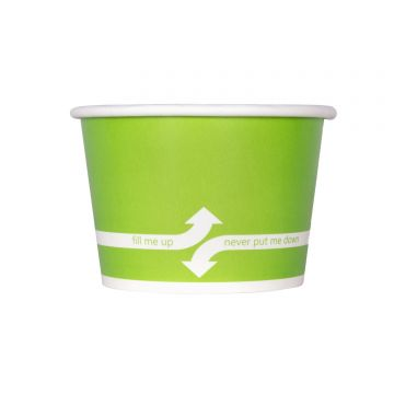 Karat 8oz Food Containers - Green (95mm) - 1,000 ct, C-KDP8 (GREEN)