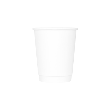 Karat 8oz Insulated Paper Hot Cups - White (80mm) - 500 ct