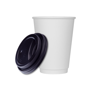 Karat 12oz Insulated Paper Hot Cups and Black Sipper Dome Lids (90mm) - 1,000 ct