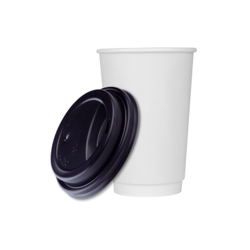 Karat 16oz Insulated Paper Hot Cups and Black Sipper Dome Lids (90mm) - 1,000 ct